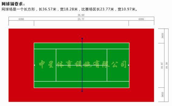 网球场地标准尺寸图,篮球场地标准尺寸图